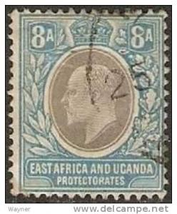 East Africa & Uganda 1907 King Edward VII Scott 8 used
