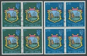 ST HELENA 1967 New Constitution set fine used blocks of 4..................12374