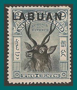 Labuan 1897 Sambar Stag, p15 mint  73,SG90c
