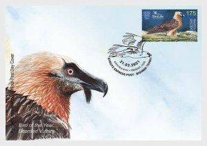 2021  KYRGYZSTAN  - BEARDED VULTURE ON FIRST DAY COVER