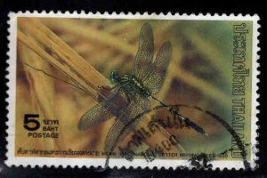 THAILAND Scott 1324 Used Dragonfly stamp