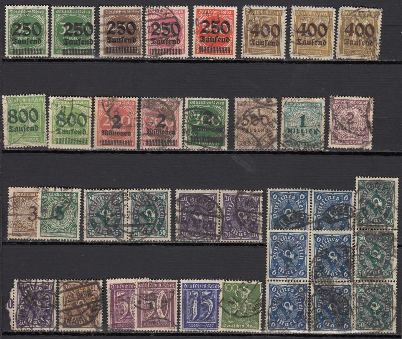 Germany - 1921/1923 Inflation small stamp lot-5 - (975)