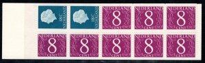 Netherlands Scott # 346Cd, mint nh, cpl. stamp booklet, se-tenant