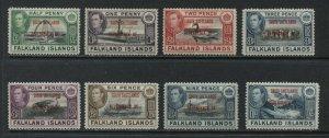Falkland islands overprinted South Shetlands set mint o.g. hinged