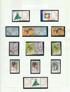 AD742) 2001 Birds of Prey, Seasons Greetings, Christmas,