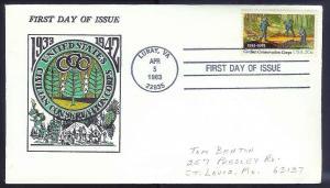 UNITED STATES FDC 20¢ CCC 1983 Davis