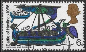Great Britain 476 Used - 900th Battle of Hastings - Norman Ship