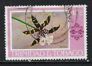 TRINIDAD & TOBAGO 286 VFU ORCHID X499-9