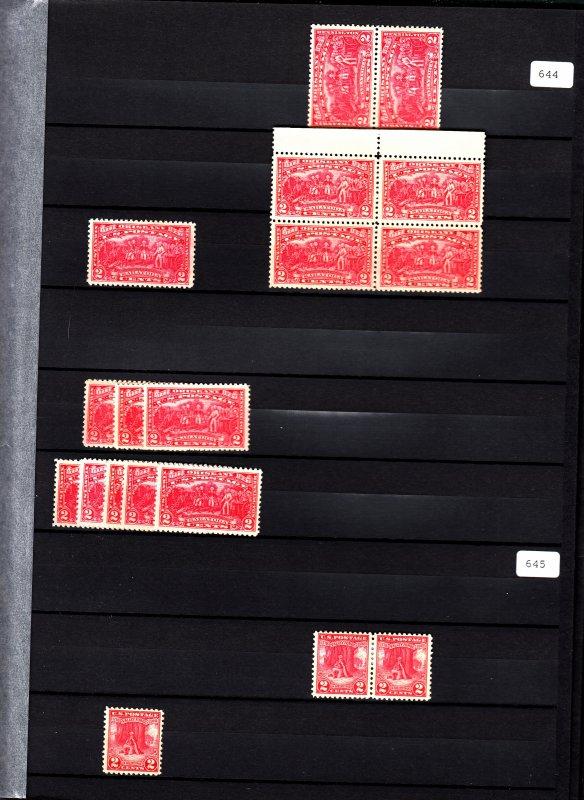 Ultra clean mint/used dealer stock in (15) 32pg Lindner stockbooks! Free shippin