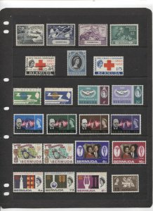 STAMP STATION PERTH Bermuda #Selection of Common Design Sets MH/Used CV$25.00