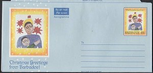 BARBADOS 65c Christmas aerogramme unused....................................K298