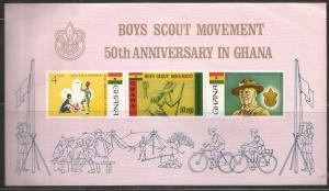 GHANA  310A  MNH, SS,  BOY SCOUT MOVEMENT