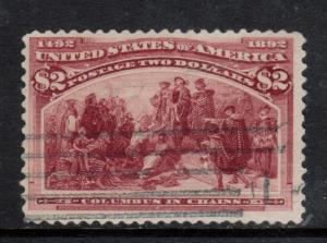 USA #242 Used Fine - Very Fine Light Cancel