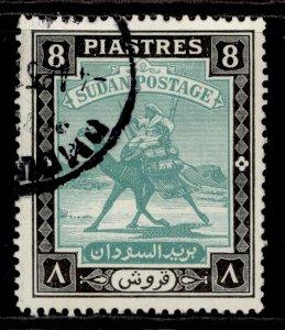 SUDAN GVI SG108, 8p bluish green & black, FINE USED.