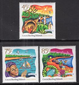 Cocos Keeling Islands 323-325 MNH VF