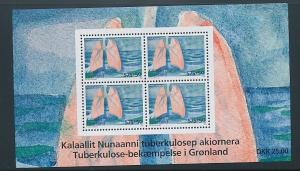 Greenland Sc B33a 2008 Tuberculosis stamp sheet mint NH
