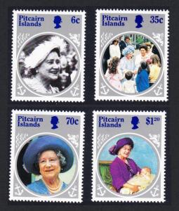Pitcairn Life and Times of Queen Elizabeth the Queen Mother 4v SG#268-271