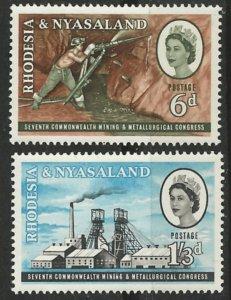 Rhodesia & Nyasaland # 178-79 Mining & Metal Congress  (2)  Mint NH