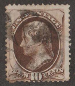 U.S. Scott #161 Jefferson Stamp - Used Single