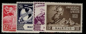 MAURITIUS GVI SG272-275, anniversary of UPU set, M MINT.
