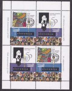 Slovenia # 240a, U.N. 50th Anniversary, Souvenir Sheet, NH, 1/2 Cat.