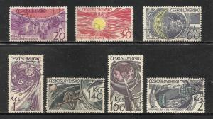 Czechoslovakia 1949 Scott# 1289-1295 Used CTO
