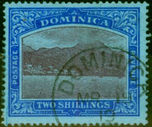 Dominica 1919 2s Purple & Deep Blue-Blue SG53b Fine Used