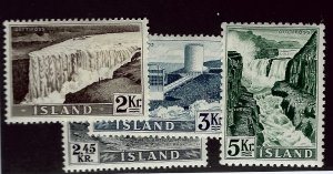 Iceland SC#293-296 Mint F-VF SCV$27.00...Bid to win!!