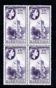 Barbados QEII 1956 48c MNH block SG#298 WS13510