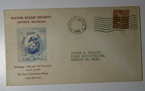 Wayne Stamp Society Exhibition Detroit MI 1963 Gen Anthony Wayne Philatelic Covr