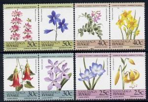 Tuvalu - Nanumaga 1985 Flowers (Leaders of the World) set...