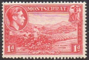 Montserrat 1938 1d carmine (P 13) MH