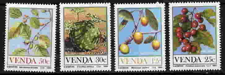 VENDA 1985 FOOD OF THE VELD - AFRICAN FLORA SET MINT COMPLETE!