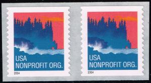 US #3875 Seacoast; MNH pair (0.50)