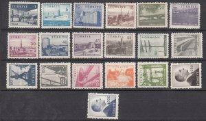 J26018 jlstamps 1959-69 turkey set mnh #1442-60 designs