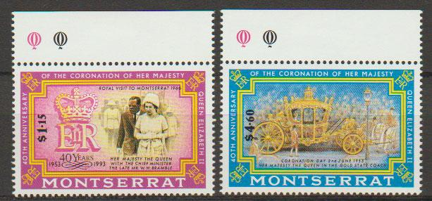 Montserrat SG 913 - 914 set of 2  MLH -  Coronation