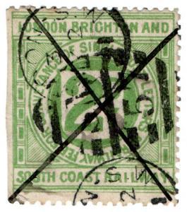 (I.B) London Brighton & South Coast Railway : Letter Stamp 2d (London)