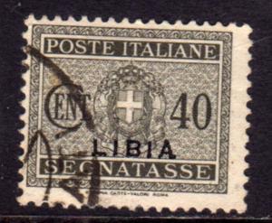 LIBIA 1934 SOPRASTAMPATO D'ITALIA ITALY OVERPRINTED SEGNATASSE TAXES TASSE CE...