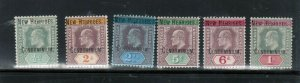 New Hebrides #1 - #6 Very Fine Mint Lightly Hinged