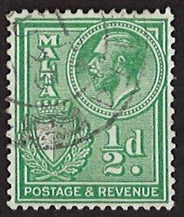 Malta 1/2d 1926-1930 POSTAGE AND REVENUE (LL-75)