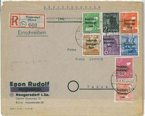 GERMANY: SOVIET ZONE Sowjetische Besatzungszone - COVER to LIECHTENSTEIN 1948