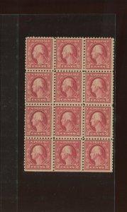 Scott 467 Washington Perf 10 Mint Double Error Block of 12 Stamps NH (STK 467-4)