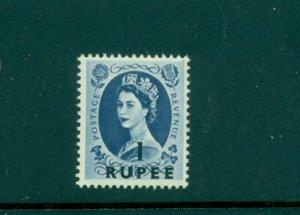 Oman - Sc# 62. 1955 QEII 1 Rupee. Mint. $8.00.