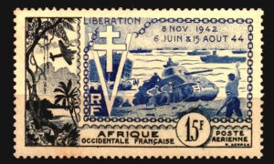 French West Africa Scott C17 Unused NH with foxing