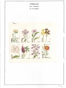 SCOTLAND - EYNHALLOW - 1974 - Flowers - Imperf 8v Sheet - MLH