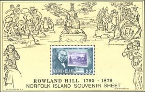 Norfolk Island 1979 SG228 Sir Rowland Hill stamp MS MNH
