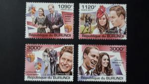 Burundi 2011. -  Prince William & Katherine ** MNH complete set (perforated)