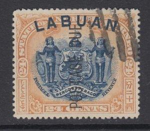 Labuan, Scott J9a (SG D9b), used CTO, Perf 14.5x15