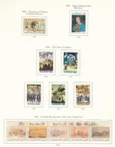 AUSTRALIA VF-MLH COLLECTION OF VARIOUS DESINS S/SHEETS SETS ECT