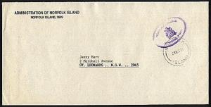 NORFOLK IS 1988 Official mail cover to Australia..........................94014a